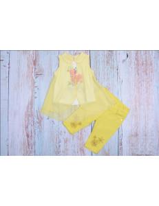 Комплект летний желтого цвета bebus (бриджи и блуза)