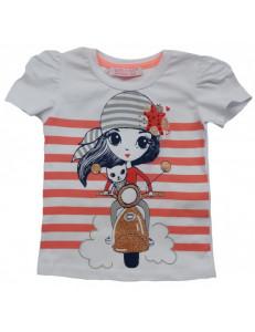 Футболка летняя девочка-байкер