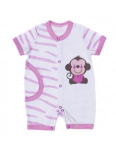 """Песочник для малышей розового цвета с рисунком на попке """"Сафари"""""""